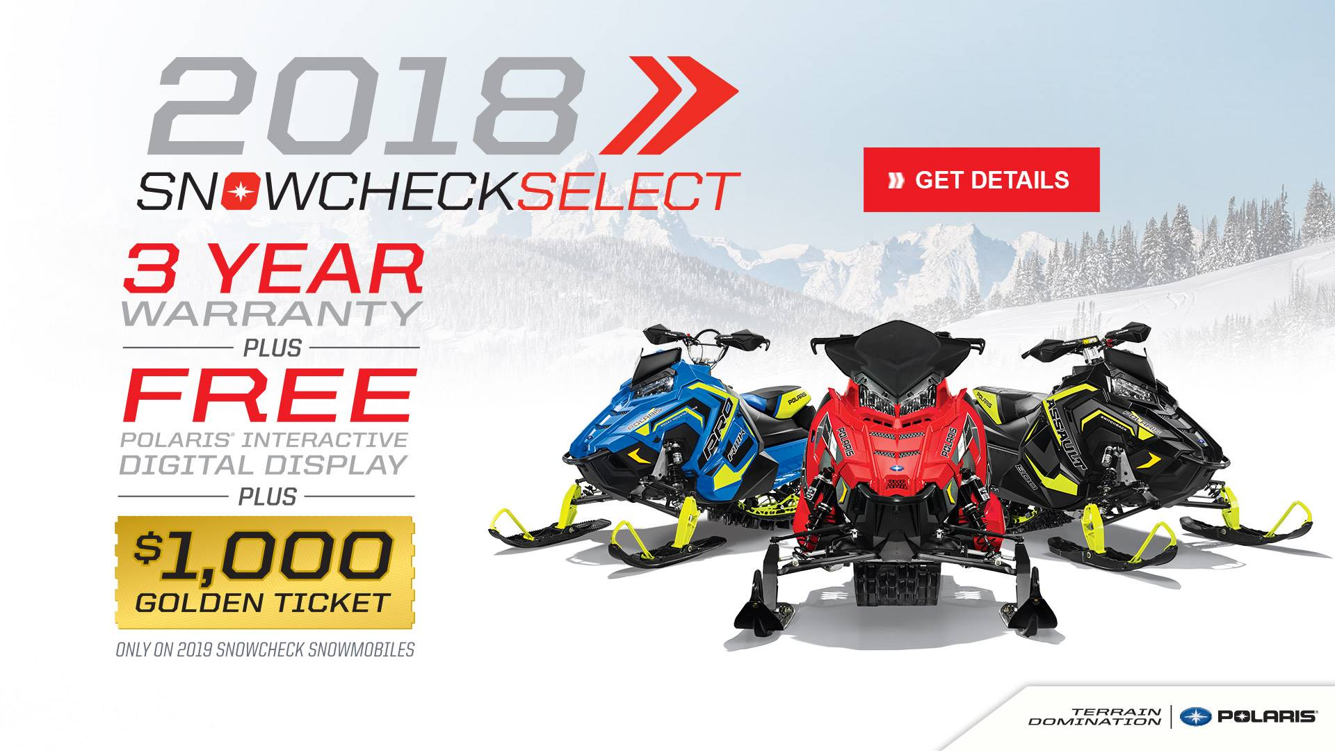 Polaris 2018 SnowCheck Select Offers