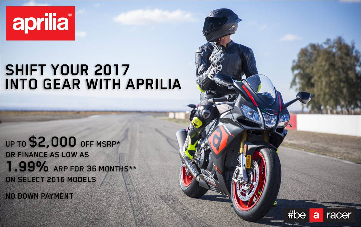 Aprilia - Shift your 2017 into Gear