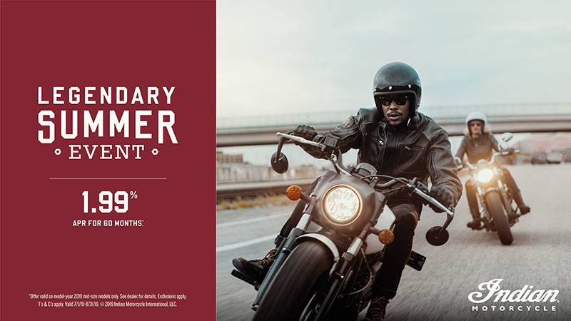 Indian - Legendary Summer Event - 2019 Scout Family Financing and Trade-In Offers