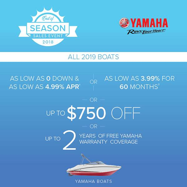 Yamaha Boats - Up to $750 Off