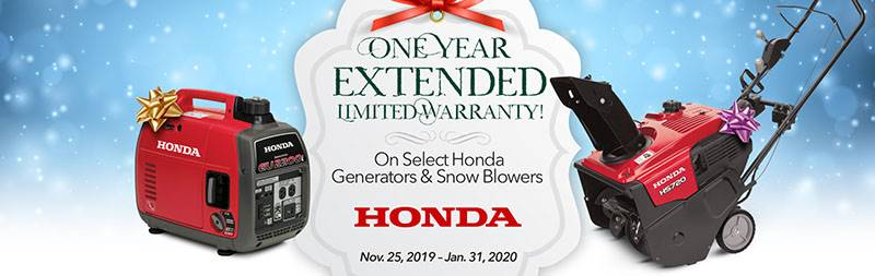 Honda Power Equipment - One Year Extended Limited Warranty