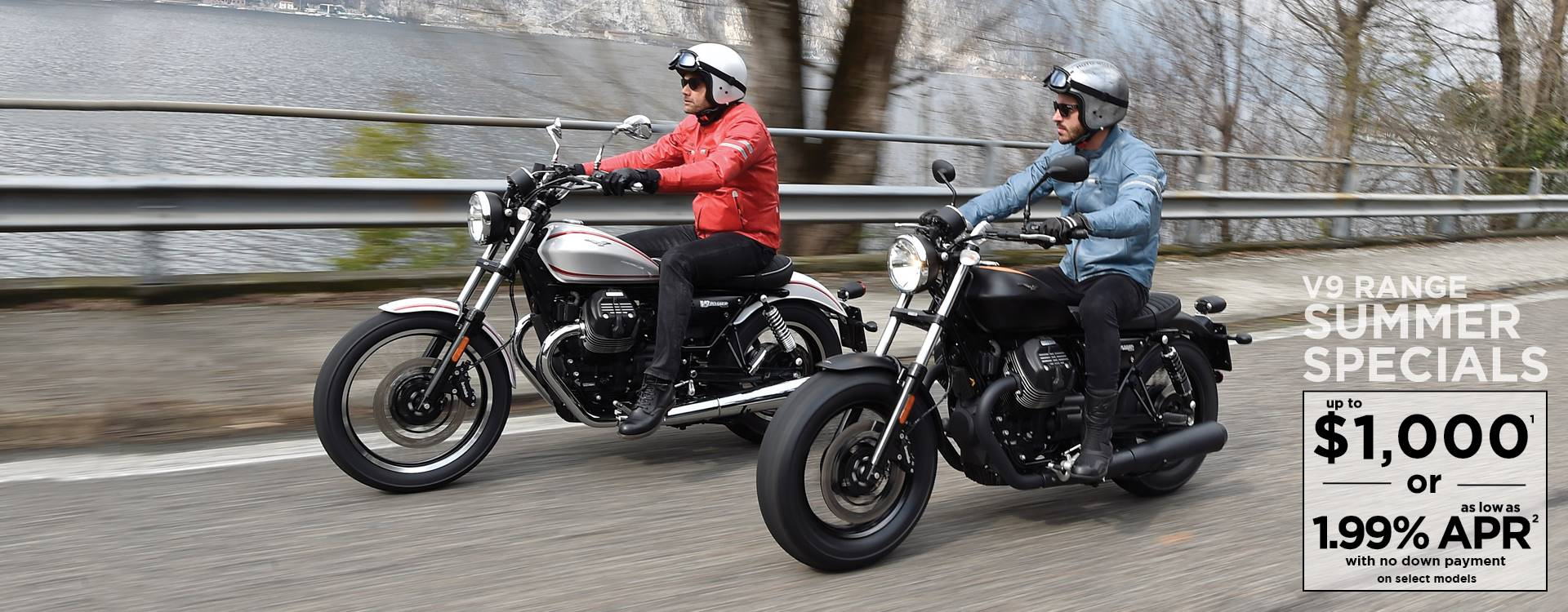 Moto Guzzi - Summer is here! Unprecedented offers on 2017 V9 Models!
