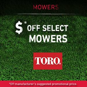 Toro - Save on Select Mowers