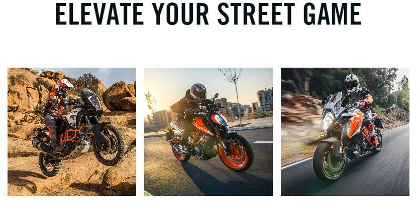 KTM ELEVATE YOUR STREET GAME