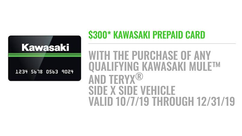 Kawasaki - Ride Into Fall Sales event - Side X Side Offer