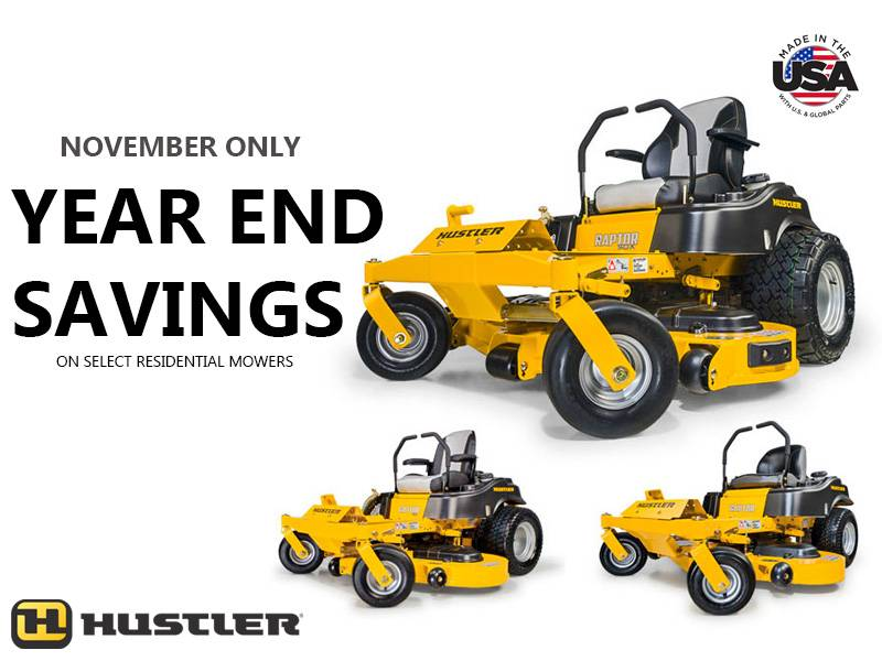 Hustler Turf Equipment - Year End Savings