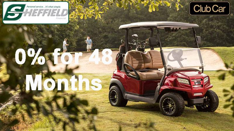 Club Car - Sheffield Financial 0% for 48 Months