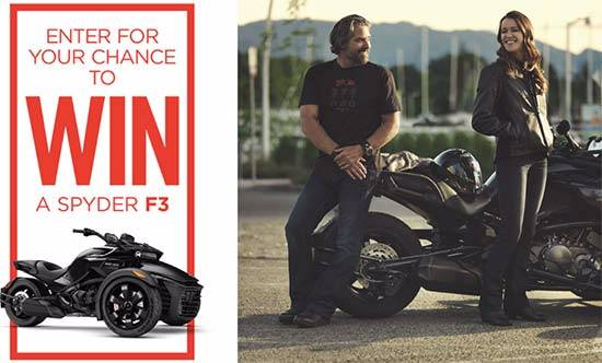 Can-Am Enter for Your Chance to WIN a Spyder F3!