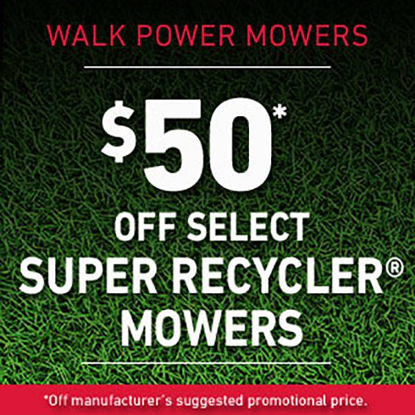 Toro - $50* Off Select Super Recycler Mowers