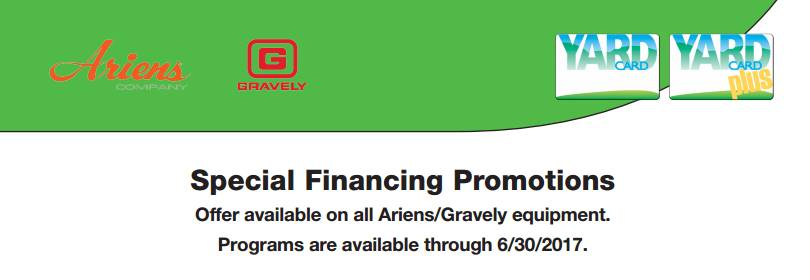 Gravely - TD Yard Card Promotional Offers