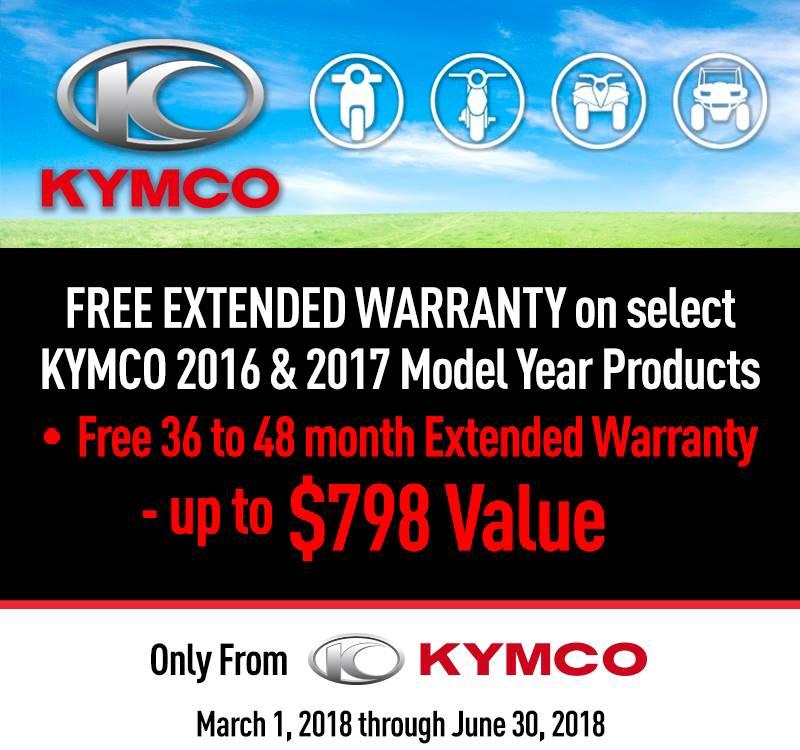 Kymco Spring Free Extended Warranty Program