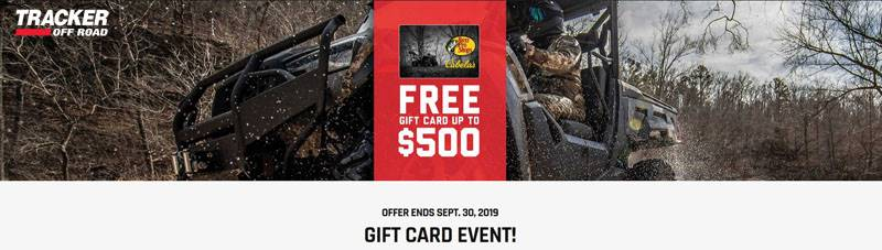 Tracker Off Road - Free Gift Card Up to $500