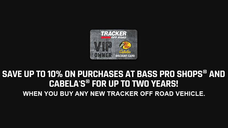 Tracker Off Road - Free VIP Owner's  Discount Card