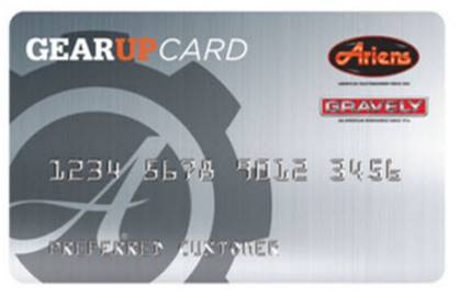 "Ariens USA Ariens - ""Get the Gear"" Credit Card"
