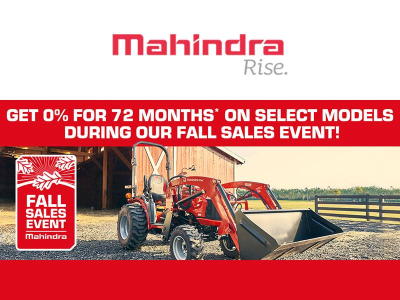 Mahindra - Fall Sales Event