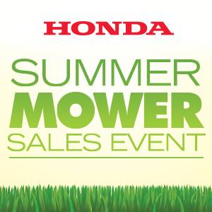 Honda Power Equipment Summer Mower Sales Event
