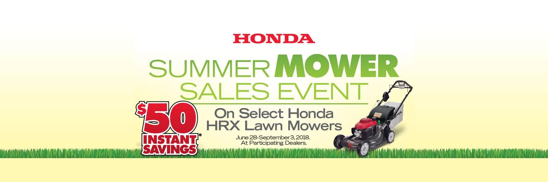 Honda Power Equipment Summer Mower Sales Event