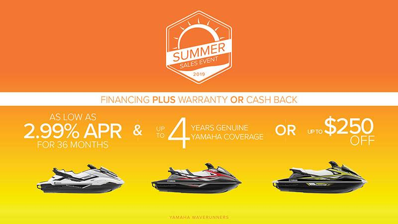 Yamaha Motor Corp., USA Yamaha Waverunners - Summer Sales Event