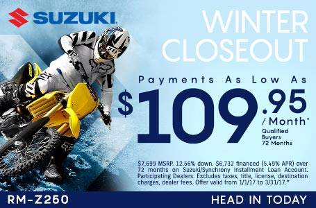 Suzuki Payments As Low As $109.95
