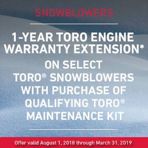 Toro - Snowblower Warranty Extension