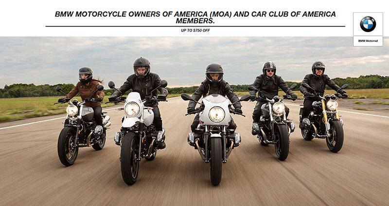 BMW - Motorcycle Owners of America (MOA) and Car Club of America Members Purchase Offer