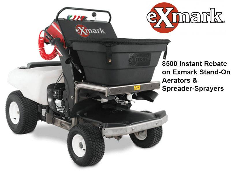 Exmark - $500 Instant Rebate on Exmark Stand-On Aerators & Spreader-Sprayers
