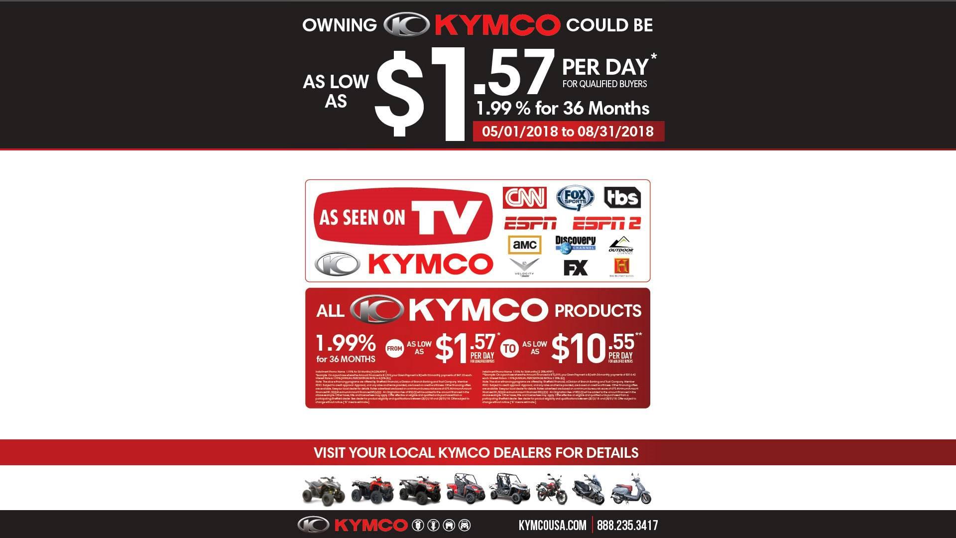 Kymco Spring Retail Financing