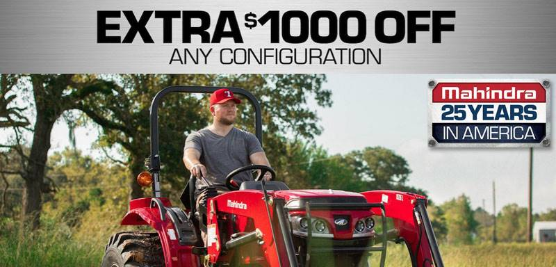 Mahindra - $1000 Off Any Configuration!