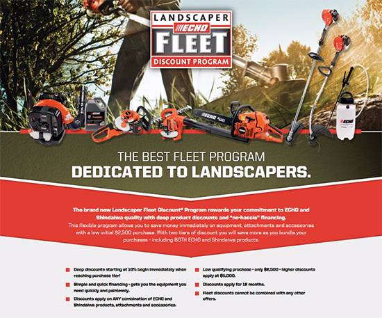 Echo Landscaper Fleet Discount® Program!