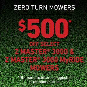Toro - $500 USD Off Select Z Master 3000 Series Mowers and Z Master 3000 Series MyRIDE