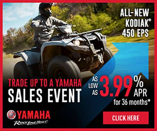 Yamaha - TRADE UP TO A YAMAHA SALES EVENT - Utility ATV