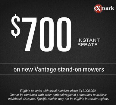 Exmark - $700 Instant Rebate on Vantage Mowers