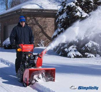 Simplicity Preseason Snow Thrower Savings