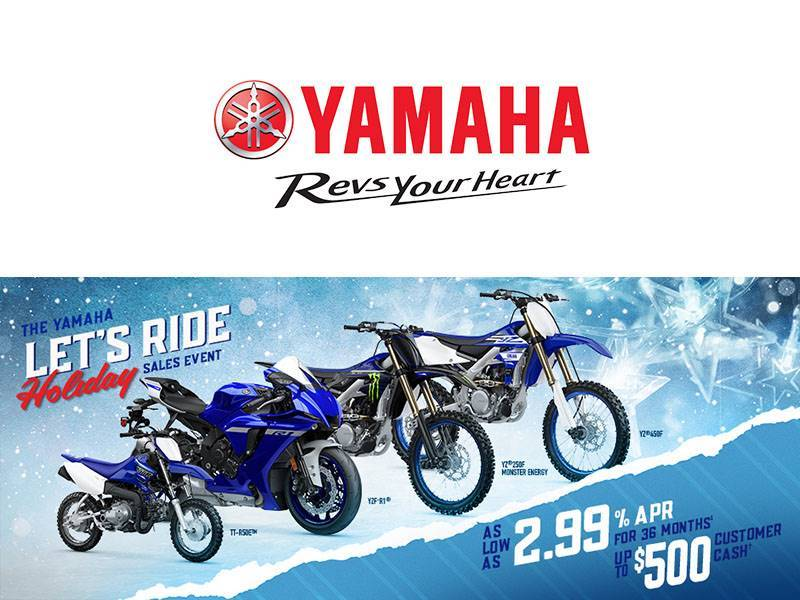 Yamaha - Let's Ride Holiday Sales Event - Motorcycles & Scooters