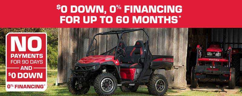 Mahindra - $0 Down, 0% Financing For Up To 60 Months