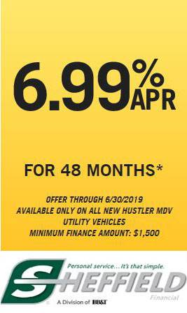 Hustler Turf Equipment - 6.99% ARP for 48 Months
