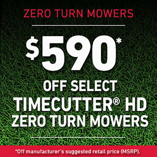 Toro - $590* Off Select Timecutter HD Zero Turn Mowers