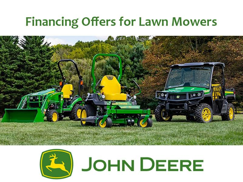 John Deere - Financing Offers for Lawn Mowers