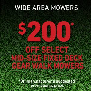 Toro - $200 USD Off Select Mid-Size Fixed Deck Gear Drive Mowers