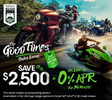 Kawasaki GOOD TIMES™ SALES EVENT - 0% APR FOR 36 MONTHS