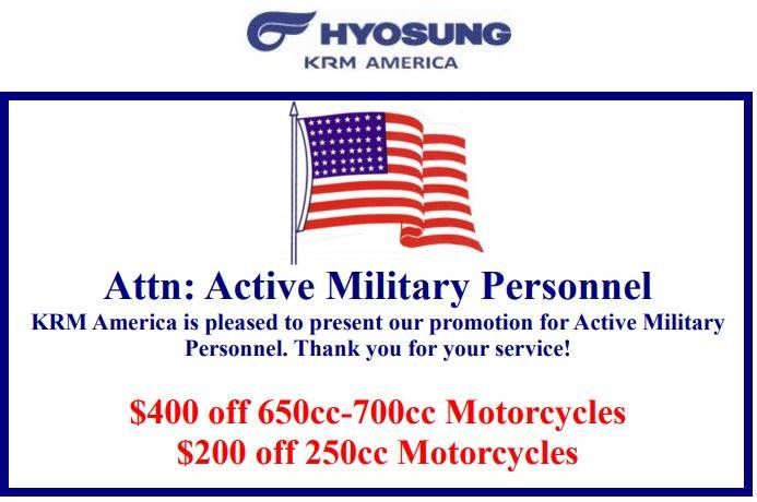 Hyosung Active Military Personnel Promotion