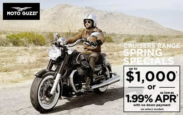 Moto Guzzi Cruisers Range Spring Specials