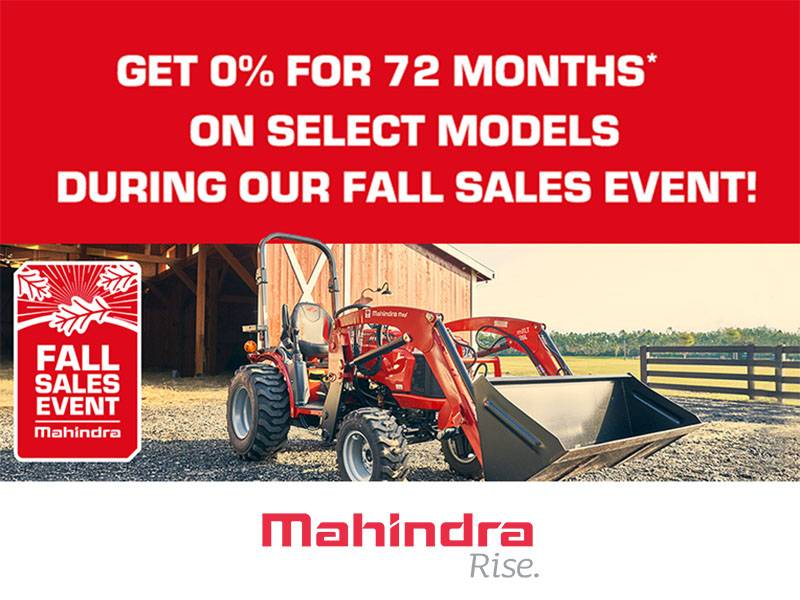Mahindra - Get 0% For 72 Months* On Select Models During Our Fall Sales Event
