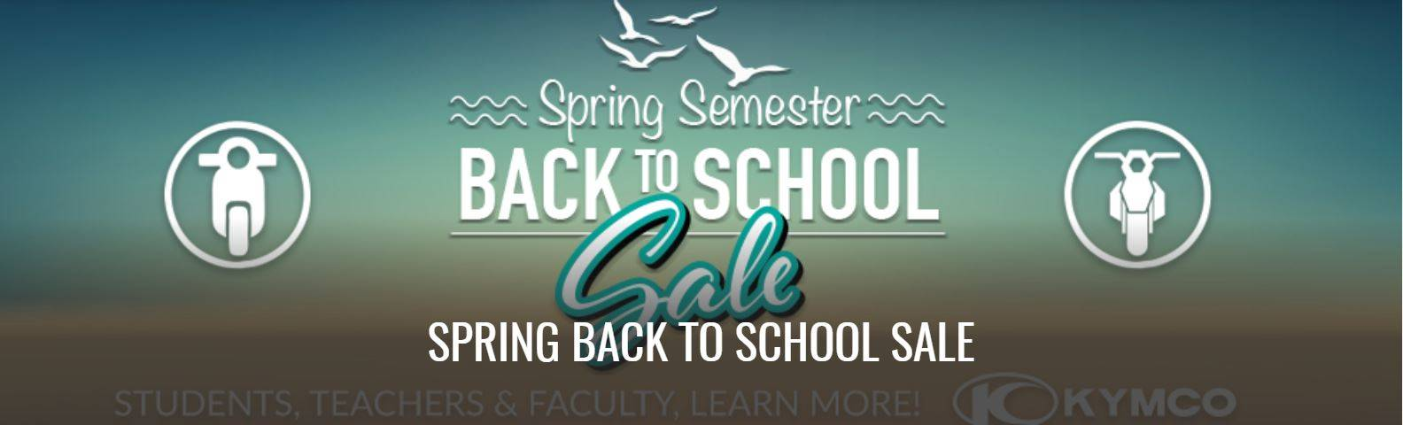 Kymco Spring Semester Back to School Sale