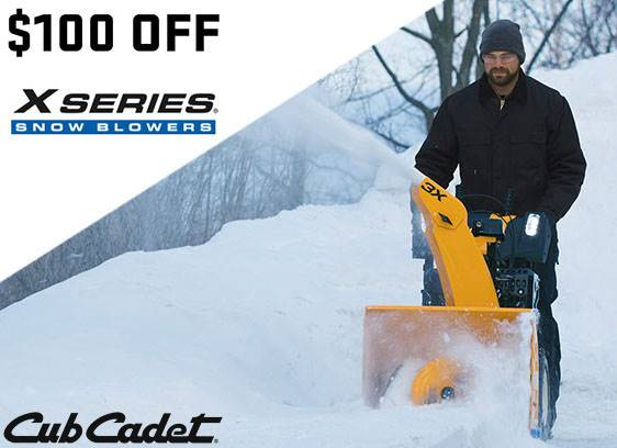 Cub Cadet - $100 Off Select X Series Snow Blowers