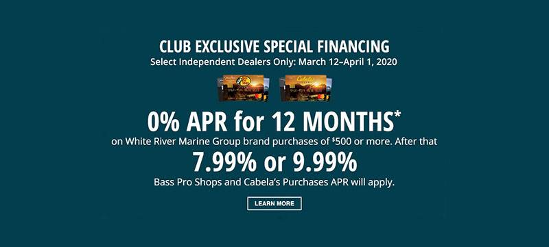 Sun Tracker - Club Card Special Finance Offer