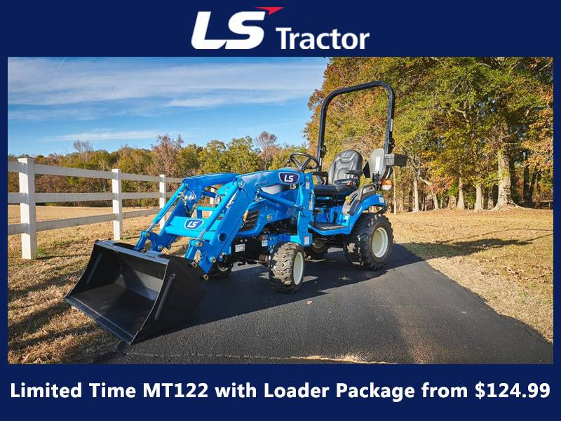 LS Tractor - Limited Time MT122 with Loader Package from $124.99