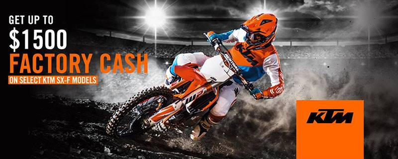 KTM - Get Up to $1500 Factory Cash