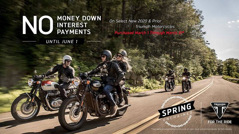 Triumph - Spring Unchained Sales Event