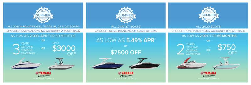 Yamaha Motor Corp., USA Yamaha Boats - End of Summer Sales Event 2019